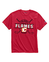 Exclusive Champion Men's NHL Tee, Calgary Flames Vintage Marks Series 1980-1981