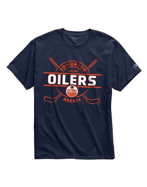 Exclusive Champion Men's NHL Tee, Edmonton Oilers Vintage Marks Series 1978-79