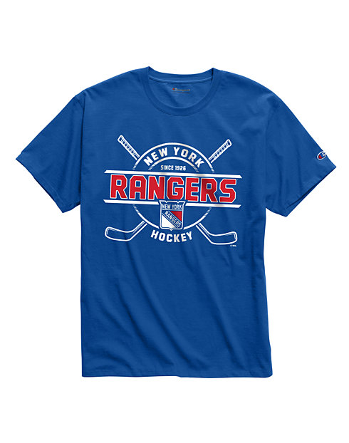 Exclusive Champion Men's NHL Tee, New York Rangers Vintage Marks Series 1976-77