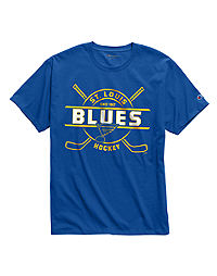 Exclusive Champion Men's NHL Tee, St Louis Blues Vintage Marks Series 1970