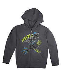 Hanes Boys' FreshIQ™ Full Zip Hooded Graphic Sweatshirt