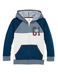 Hanes Boys' Graphic Fleece Colorblock Full Zip Hoodie