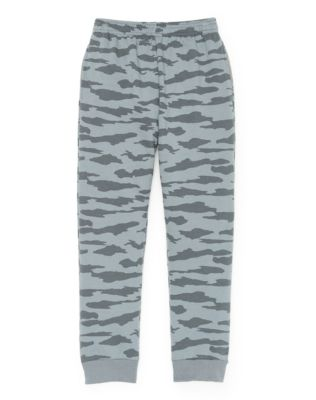 Hanes Boys' Fleece Jogger Camo Sweatpants with Pockets