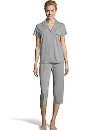 Dearfoams Sleep Tight Notch Collar Capri Sleep Set