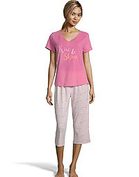 Dearfoams Rise & Shine Capri Sleep Set