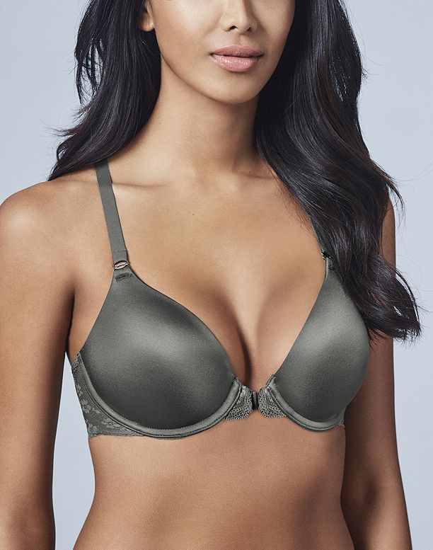Image for Wonderbra Smoothing Front Closure Lace T-Back Underwire Bra from WonderBra