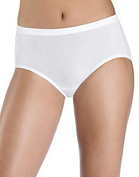 Hanes Women's Cotton Stretch Low Rise Brief with ComfortSoft® Waistband 3-Pack