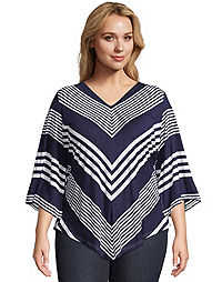 Chevron Split Sleeve Top