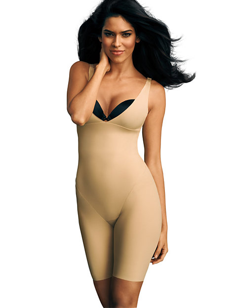 Maidenform Open Bust Body Shaper with Anti-Static