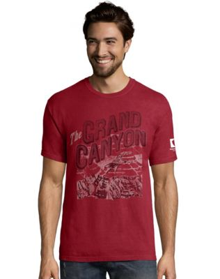 Hanes Men's ComfortWash™ Grand Canyon Postcard National Park Short Sleeve  Tee