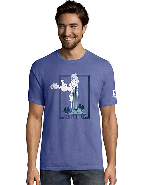 Hanes Men's ComfortWash™ Yellowstone Postage National Park Short Sleeve Tee