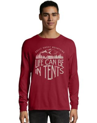 Hanes ComfortWash™ Life in Tents National Park Graphic Long Sleeve Tee