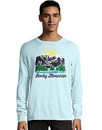 Hanes Men's ComfortWash™ Rocky Mountain National Park Long Sleeve Tee