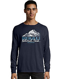Hanes Men's ComfortWash™ Denali Park Mountains National Park Long Sleeve Tee
