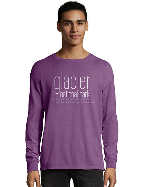 Hanes Men's ComfortWash™ Glacier National Park Long Sleeve Tee
