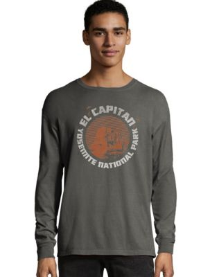 Hanes Men's ComfortWash™ Yosemite El Capitan National Park Long Sleeve Tee