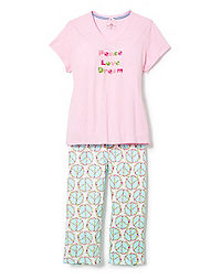 "Goodnight Kiss™ ""Peace"" Floral Sleep Set"