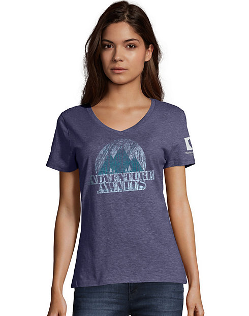 Hanes Adventure Awaits National Park Women's Graphic Tee