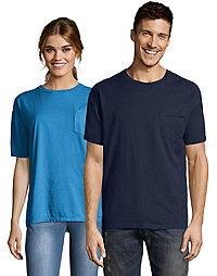 Hanes Adult ComfortWash™ Garment Dyed Short Sleeve Pocket Tee