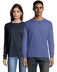 Hanes Men's ComfortWash™ Garment Dyed Long Sleeve Pocket Tee