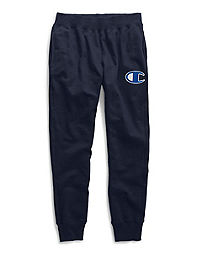 Champion Life® Men's Reverse Weave® Joggers, Mesh & Leather C Logo