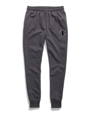 Champion Men's Powerblend® Fleece Joggers, C Logo With White Chainstitch