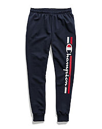 Champion Men's Powerblend® Fleece Joggers, Vertical Logo