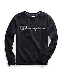 Champion Women's  Powerblend® Fleece Crew, Chainstitch Logo