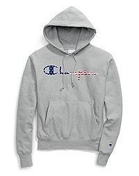 Champion Life® Men's Reverse Weave® Hoodie, Vintage Logo + Flag