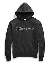 Champion Life® Men's Reverse Weave® Pullover Hood, Chenille Script Logo