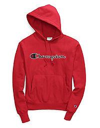 Champion Life® Men's Reverse Weave® Pullover Hood, Chain Stitch Script Logo
