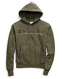 Exclusive Champion Life® Men's Reverse Weave® Pullover Hood, Camo + Metallic Logo