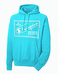 Men's Champion Life Reverse Weave Hoodie, Retro Label