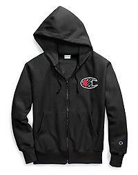 Champion Life® Men's Reverse Weave® Full Zip Hood, Sublimated C Logo