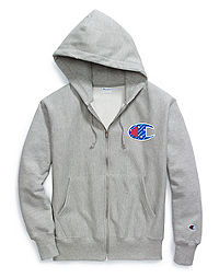 Champion Life® Men's Reverse Weave® Full Zip Hood, Sublimated C Logo