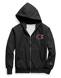 Champion Life® Men's Reverse Weave® Full Zip Hood, Chenille Big C Logo