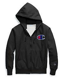 Champion Life® Men's Reverse Weave® Full Zip Hood, Chain Stitch C Logo