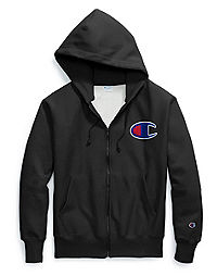 Champion Life® Men's Reverse Weave® Full Zip Hood, Chain Stitch C Logo