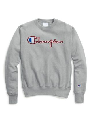 Champion Life® Men's Reverse Weave® Crew, Satin Stitch Script Logo