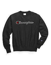 Champion Life® Men's Reverse Weave® Crew, Chenille Script Logo