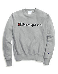 Champion Life® Men's Reverse Weave® Crew, Chain Stitch Script Logo