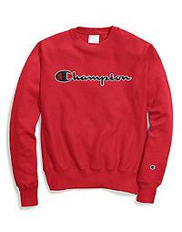 Champion Life® Men's Reverse Weave® Crew, Chain Stitch Script Logo