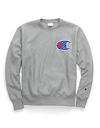 Champion Life® Men's Reverse Weave® Crew, Sublimated C Logo