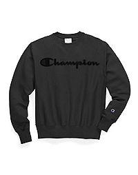 Champion Life® Men's Reverse Weave® Crew, Mesh & Leather Logo