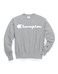 Champion Life® Men's Reverse Weave® Crew, Mesh & Leather Logo