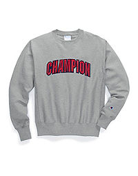 Champion Men's  Life® Men's Reverse Weave® Crew, Floss Stitch Block Arch