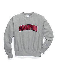 Champion Men's  Life® Men's Reverse Weave® Crew, Floss Stitch Block Arch
