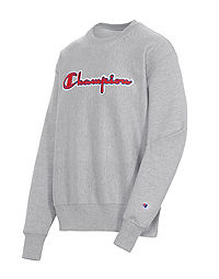 Men's Champion Life Reverse Weave Crew, Chainstitch Logo