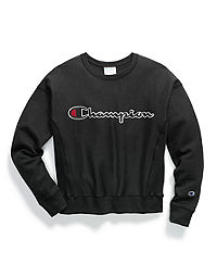 Champion Life® Women's Reverse Weave® Crew, Chain Stitch Logo