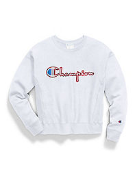 Champion Life® Women's Reverse Weave® Crew, Satin Stitch Logo